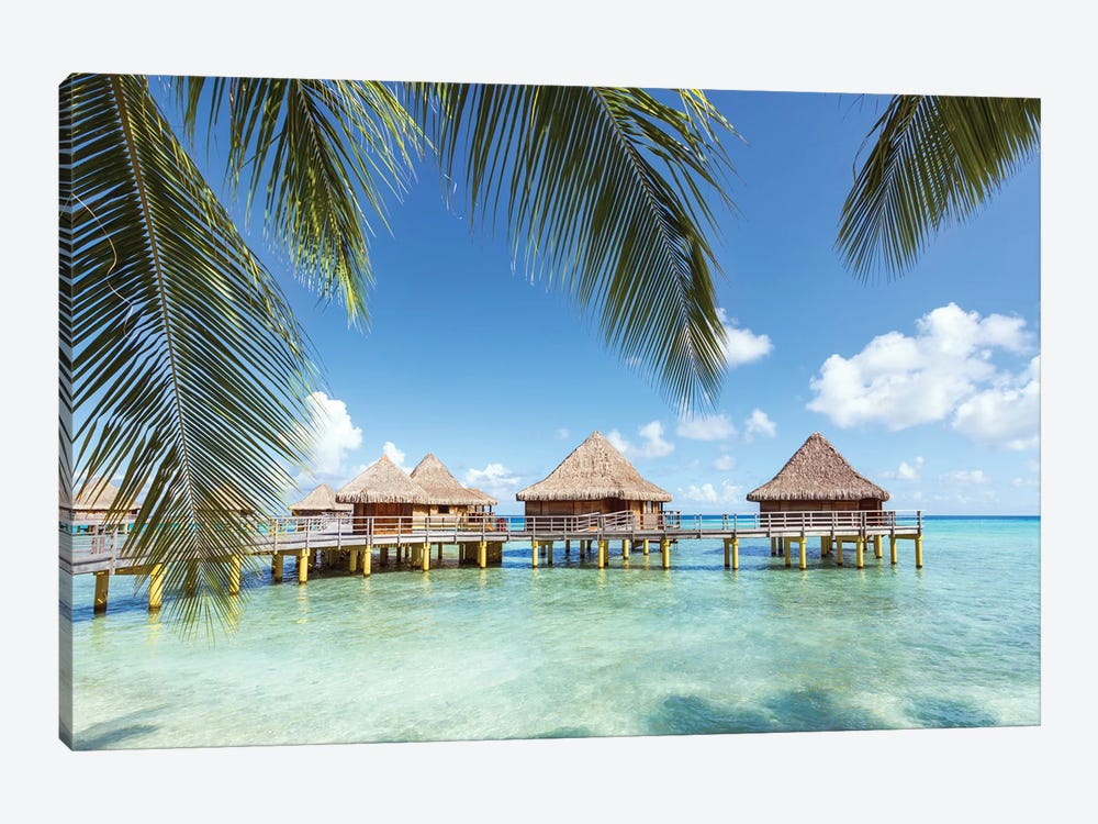 Water Bungalows In Rangiroa, French Polynesia by Matteo Colombo 1-piece Canvas Print