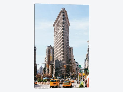 New York City iCanvasART 3-Piece Flags in Front of a Stadium New York 1.5 by 48 by 16-Inch Yankee Stadium USA No.2 Canvas Print by Panoramic Images