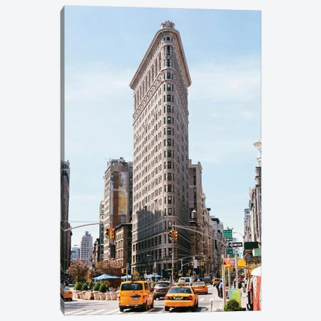 Yellow Cabs And Flatiron Building, New York City Canvas Print #TEO178} by Matteo Colombo Canvas Art
