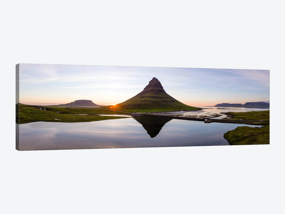 Aerial View Of Kirkjufell Mountain At Sunset, Iceland II by Matteo Colombo 1-piece Art Print