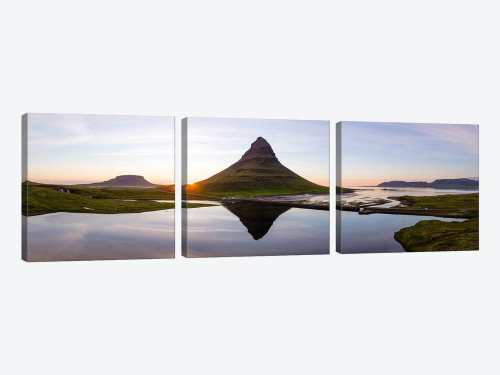 Aerial View Of Kirkjufell Mountain At Sunset, Iceland II by Matteo Colombo 3-piece Art Print