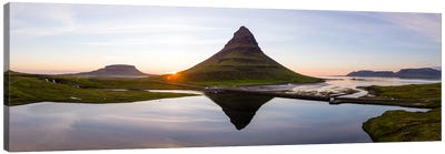 Aerial View Of Kirkjufell Mountain At Sunset, Iceland II Canvas Art Print