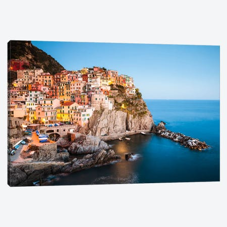 Mediterranean Town I Canvas Print #TEO180} by Matteo Colombo Art Print