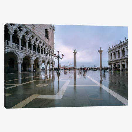 Acqua Alta (High Tide) In St Mark's Square, Venice Canvas Print #TEO183} by Matteo Colombo Canvas Print