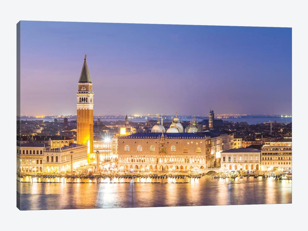 Aerial Of Venice At Night by Matteo Colombo 1-piece Canvas Print