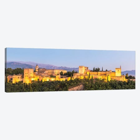 Alhambra Palace At Night, Granada Canvas Print #TEO185} by Matteo Colombo Canvas Artwork