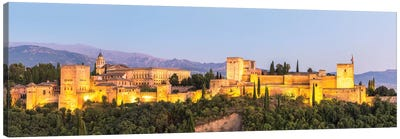 Alhambra Palace At Night, Granada Canvas Art Print