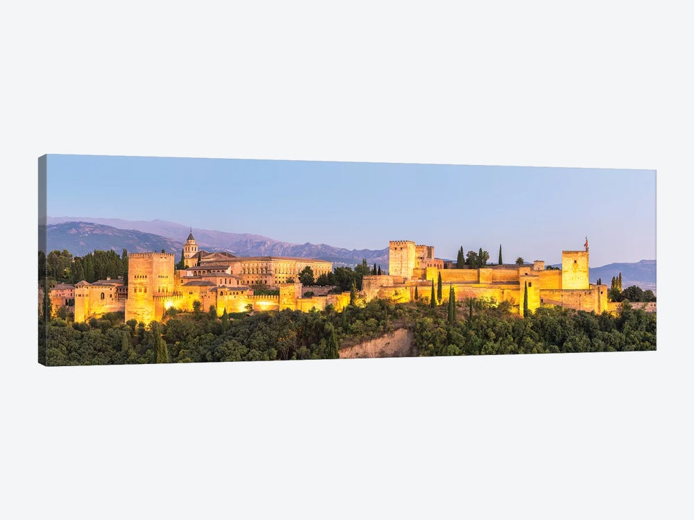 Alhambra Palace At Night, Granada by Matteo Colombo 1-piece Canvas Wall Art