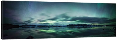 Aurora Borealis Panorama, Iceland Canvas Art Print