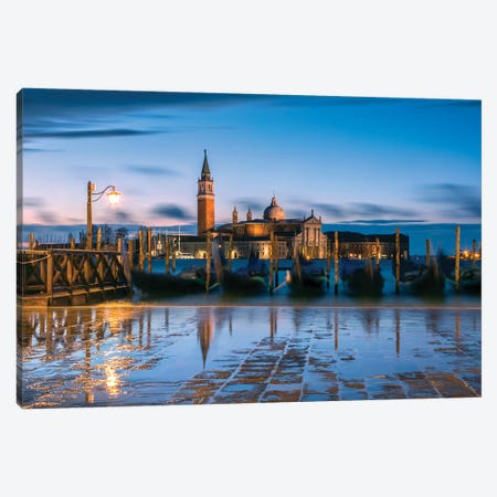 Blue Venice Canvas Print #TEO188} by Matteo Colombo Canvas Print