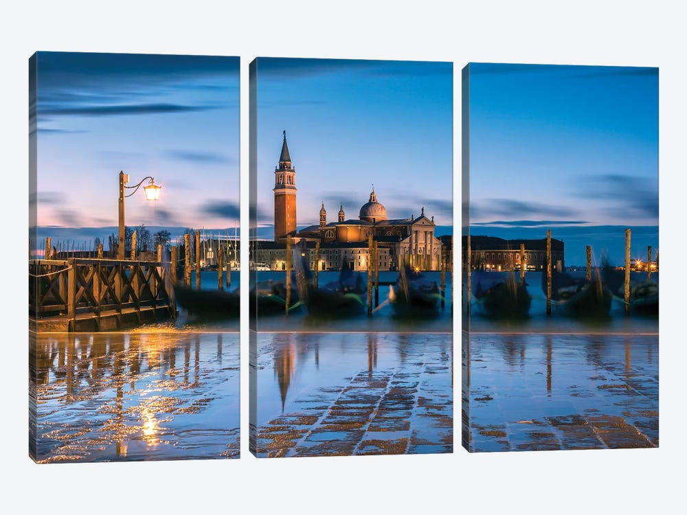 Blue Venice by Matteo Colombo 3-piece Art Print