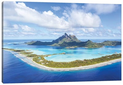 Bora Bora Island, French Polynesia Canvas Art Print