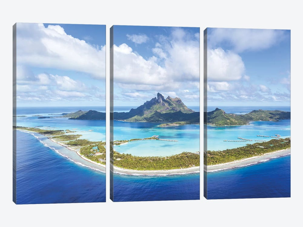 Bora Bora Island, French Polynesia by Matteo Colombo 3-piece Canvas Wall Art