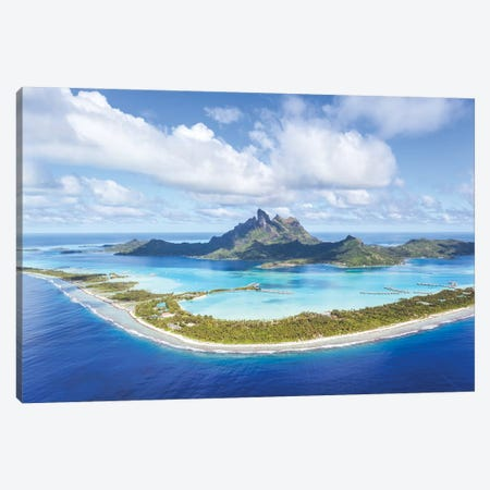 Bora Bora Island, French Polynesia Canvas Print #TEO189} by Matteo Colombo Canvas Art Print