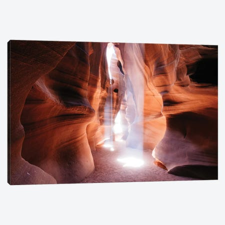 Beams Of Light (Dance Of Light), The Crack, Antelope Canyon, Navajo Nation, Arizona, USA Canvas Print #TEO18} by Matteo Colombo Canvas Print