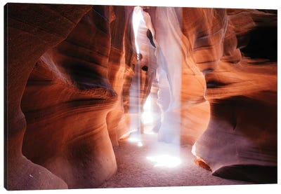 Beams Of Light (Dance Of Light), The Crack, Antelope Canyon, Navajo Nation, Arizona, USA Canvas Art Print