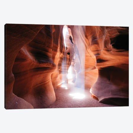 Beams Of Light (Dance Of Light), The Crack, Antelope Canyon, Navajo Nation, Arizona, USA Canvas Print #TEO18} by Matteo Colombo Canvas Print