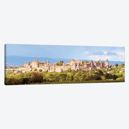 Carcassonne Panoramic, France Canvas Print #TEO191} by Matteo Colombo Canvas Artwork