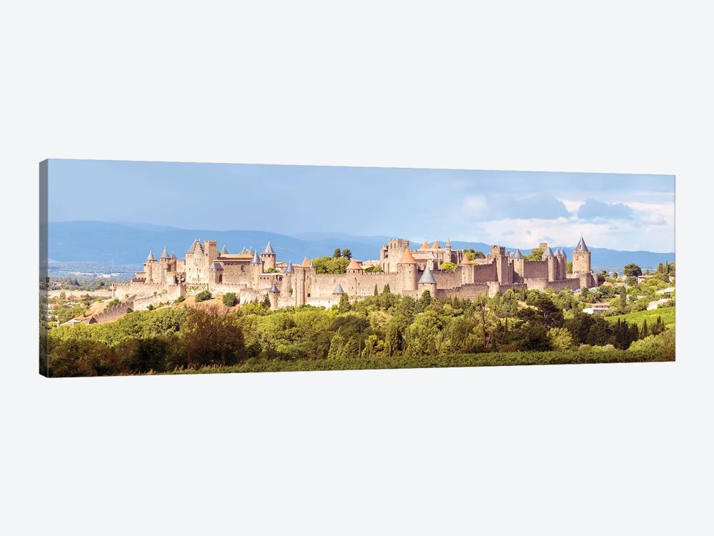 Carcassonne Panoramic, France by Matteo Colombo 1-piece Canvas Print