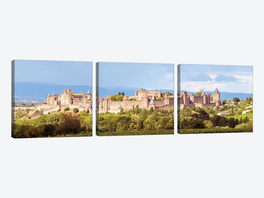 Carcassonne Panoramic, France by Matteo Colombo 3-piece Canvas Art Print