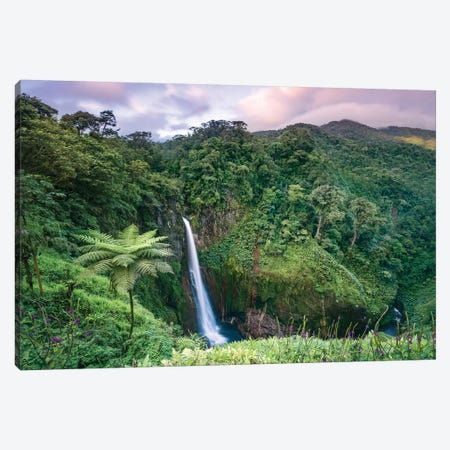 Catarata Del Toro Waterfall, Costa Rica Canvas Print #TEO192} by Matteo Colombo Canvas Artwork