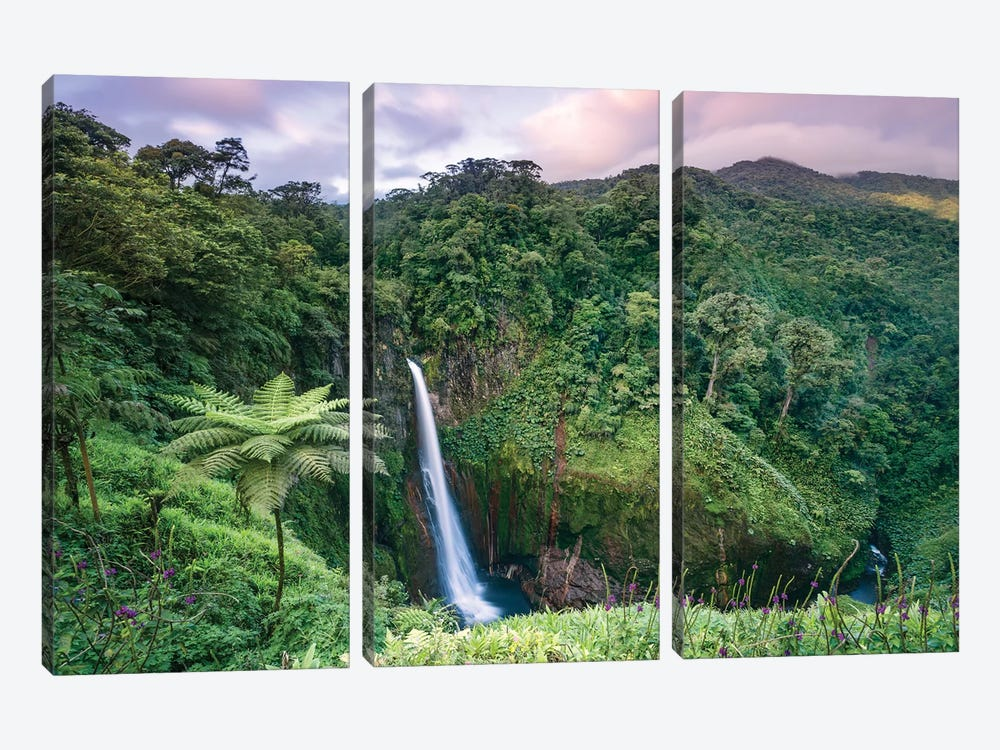 Catarata Del Toro Waterfall, Costa Rica by Matteo Colombo 3-piece Canvas Wall Art