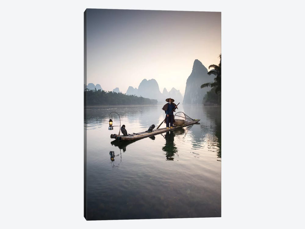 Cormorant Fisherman, Guilin, China by Matteo Colombo 1-piece Art Print