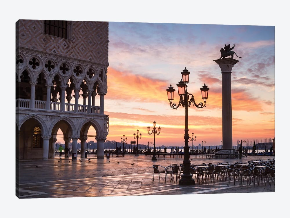 Dawn At St. Mark's Square, Venice by Matteo Colombo 1-piece Canvas Artwork