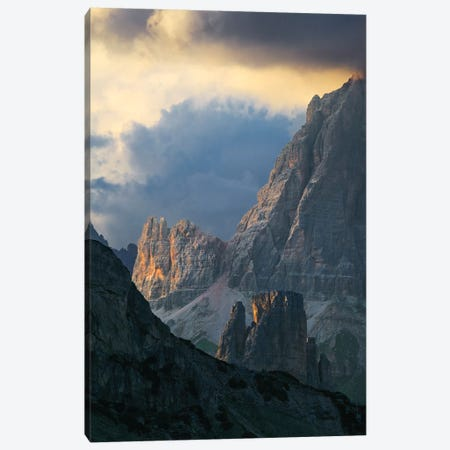 Dramatic Light Over Dolomite Peaks Canvas Print #TEO197} by Matteo Colombo Art Print