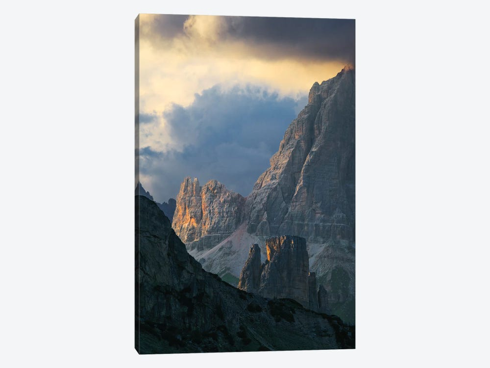 Dramatic Light Over Dolomite Peaks by Matteo Colombo 1-piece Art Print