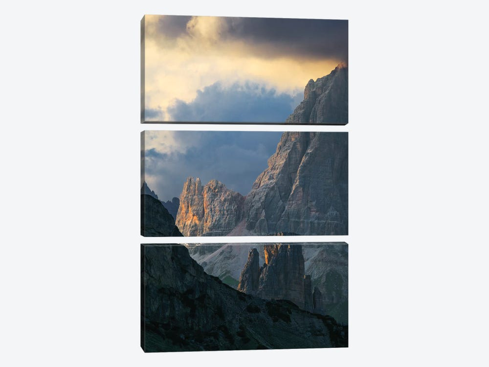 Dramatic Light Over Dolomite Peaks by Matteo Colombo 3-piece Art Print