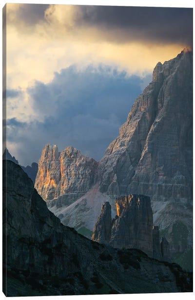 Dramatic Light Over Dolomite Peaks Canvas Art Print