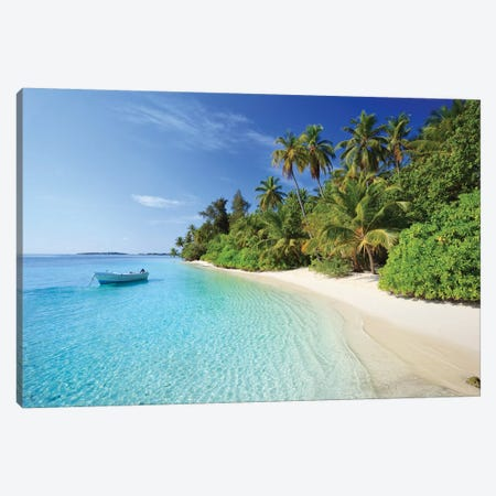 Dream Island, Maldives Canvas Print #TEO198} by Matteo Colombo Canvas Wall Art