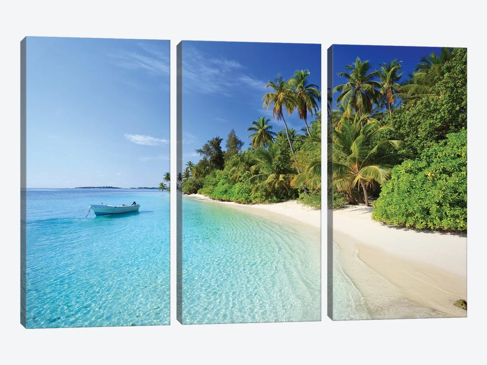 Dream Island, Maldives by Matteo Colombo 3-piece Canvas Wall Art