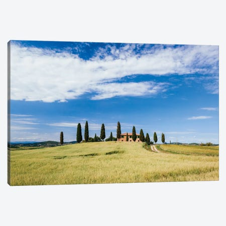Beautiful Tuscan House, Val d'Orcia, Tuscany, Italy Canvas Print #TEO19} by Matteo Colombo Canvas Print