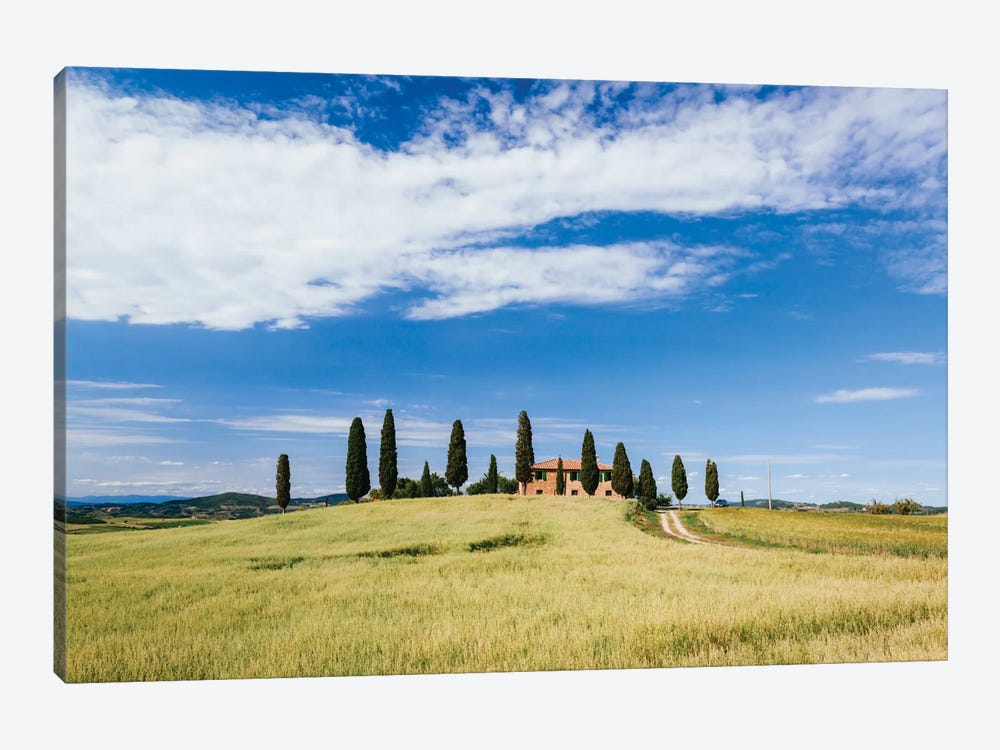 Beautiful Tuscan House, Val d'Orcia, Tuscany, Italy by Matteo Colombo 1-piece Canvas Artwork