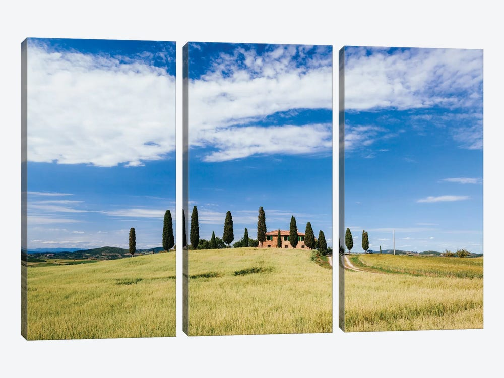 Beautiful Tuscan House, Val d'Orcia, Tuscany, Italy by Matteo Colombo 3-piece Canvas Artwork
