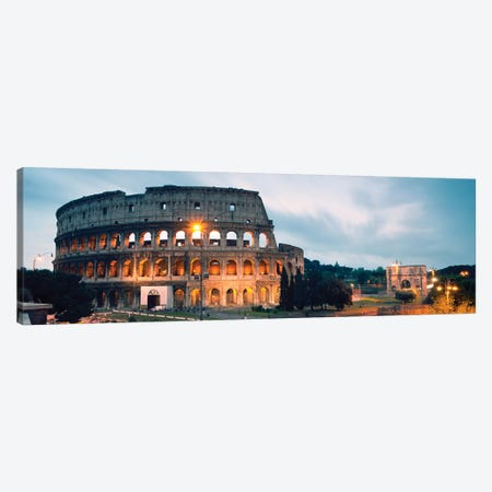 Dusk At The Colosseum Canvas Print #TEO200} by Matteo Colombo Canvas Artwork