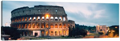 Dusk At The Colosseum Canvas Art Print