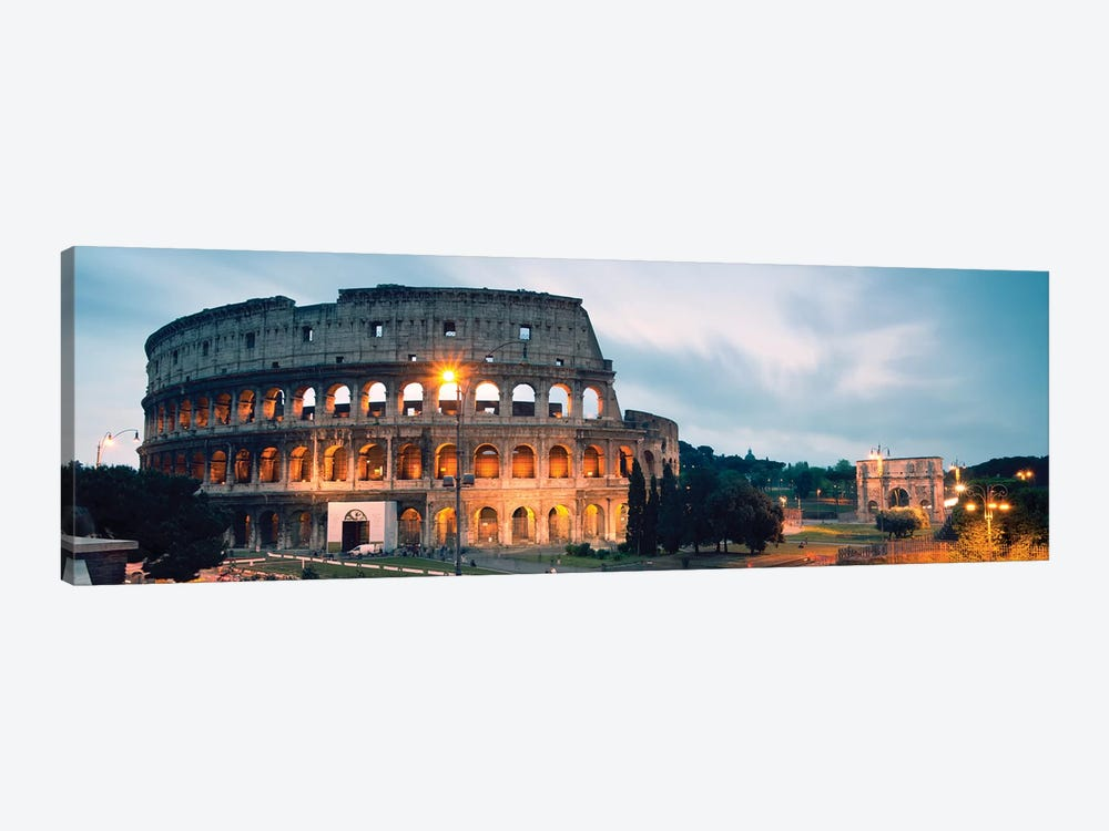 Dusk At The Colosseum by Matteo Colombo 1-piece Canvas Print