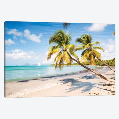 Famous Les Salines Beach In Martinique, Caribbean Canvas Print #TEO202} by Matteo Colombo Canvas Wall Art