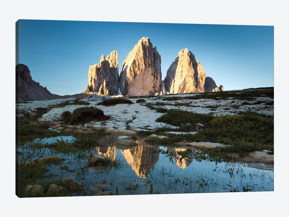 Famous Three Peaks In The Dolomites by Matteo Colombo 1-piece Canvas Art