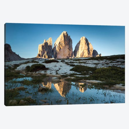 Famous Three Peaks In The Dolomites Canvas Print #TEO203} by Matteo Colombo Canvas Artwork