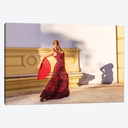 Flamenco Dancer In Andalusia, Spain Canvas Print #TEO204} by Matteo Colombo Canvas Print