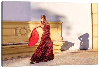 Flamenco Dancer In Andalusia, Spain Canvas Art Print