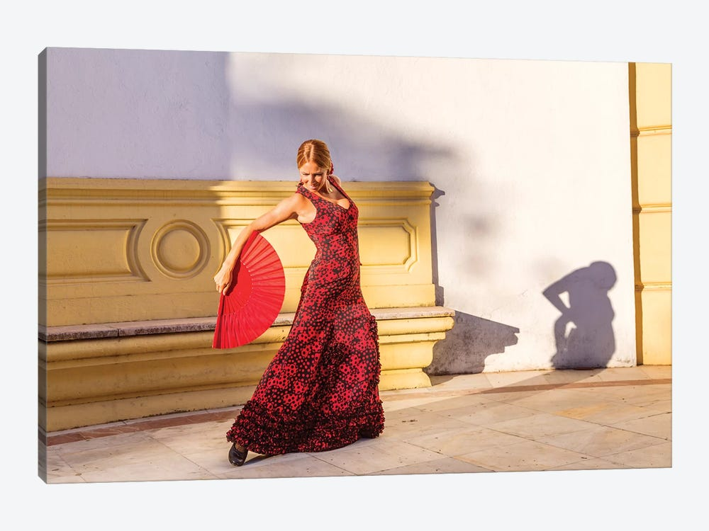 Flamenco Dancer In Andalusia, Spain by Matteo Colombo 1-piece Canvas Print