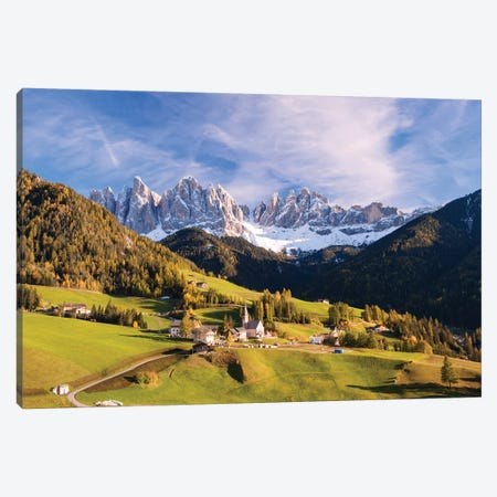 Funes Valley In The Dolomites Canvas Print #TEO206} by Matteo Colombo Art Print