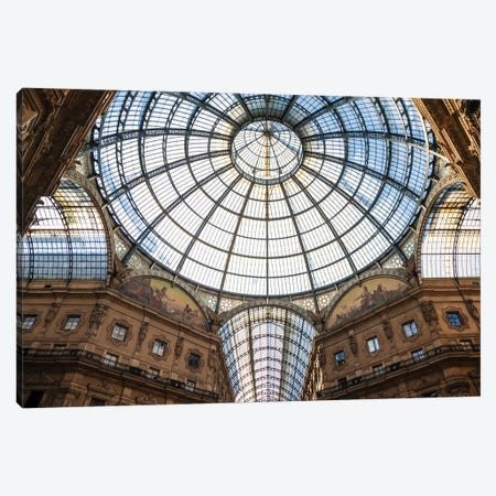 Galleria Vittorio Emanuele, Milan, Italy Canvas Print #TEO207} by Matteo Colombo Canvas Art Print