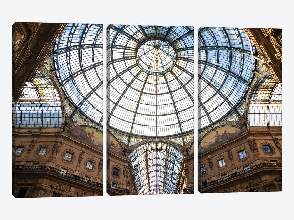 Galleria Vittorio Emanuele, Milan, Italy by Matteo Colombo 3-piece Canvas Wall Art