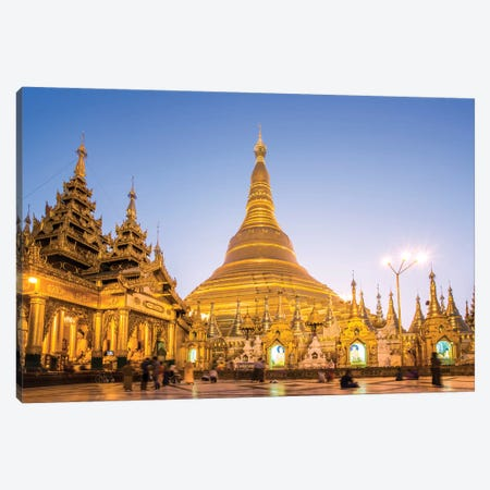 Golden Shwedagon Pagoda, Burma Canvas Print #TEO208} by Matteo Colombo Canvas Artwork